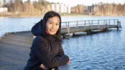 Lily Lin-Marsalo laiturilla
