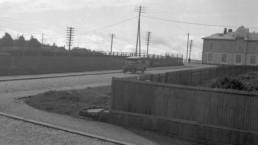 Rautatienkadun ja Suvantokadun risteys 1900-luvulla.