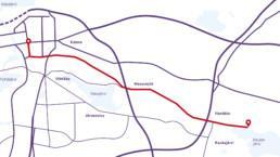 Hautamäen arjen reitti kulkee rautatieaseman ja Kaukajärven välillä.