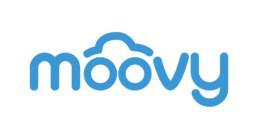 Moovyn sininen logo valkoisella taustalla